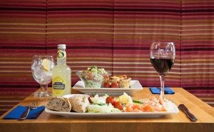 Lunchtime signature dishes and platters