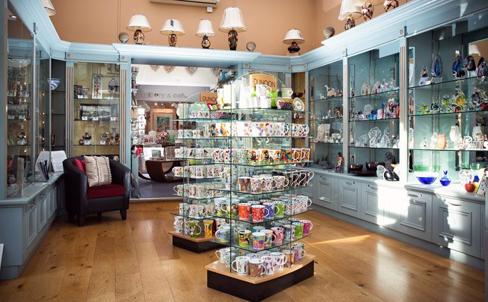 We stock unique collections of art glass, fine china and enamels