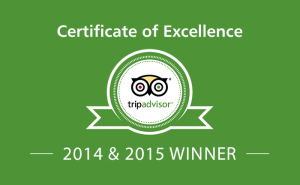 TripAdvisor Certificate of Excellence 2014 & 2015 — TREEBY & BOLTON