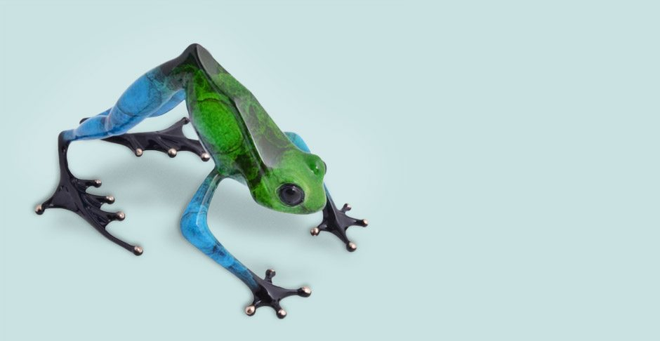Namaste frog by the Frogman