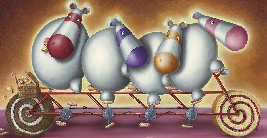 Peter Smith Impossimals A Cup of Tea & A slice of Bake
