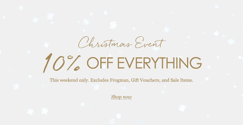 Christmas event - 10% off everything this weekend