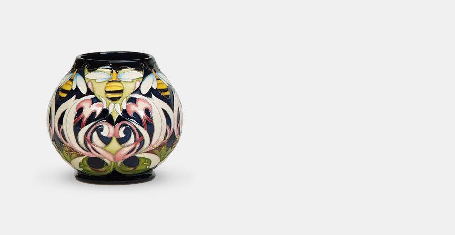 Moorcroft VIcky Lovatt Dance Of The Bumblebees vase