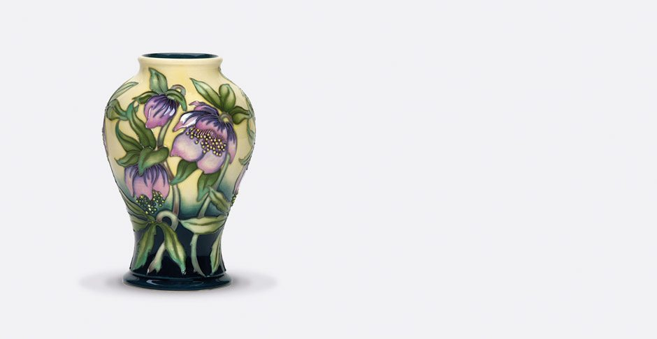 Moorcroft 'Midnight' vase designed by Kerry Goodwin