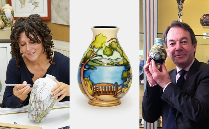Exclusive Moorcroft event launch Friars Crag Vase by Kerry Goodwin