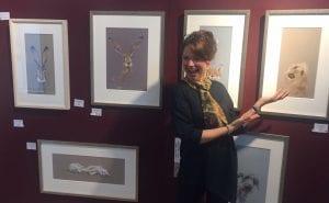 Artist Nicky Litchfield at Treeby & Bolton