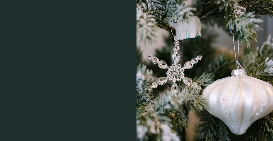 Glacial Frost Christmas decorations